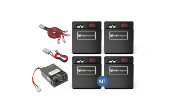 Kit 48V BDGR - NMC 4 batteries and accessories