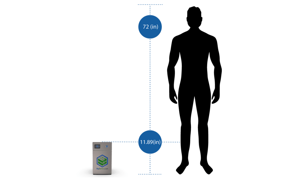 12V Owl Battery in comparison to human